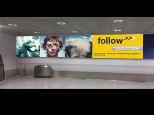 Follow Kapsch Flughafenplakat